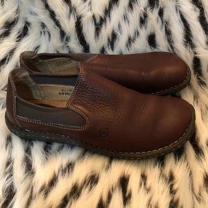 BORN Pebbled Comfort Slip On Loafer